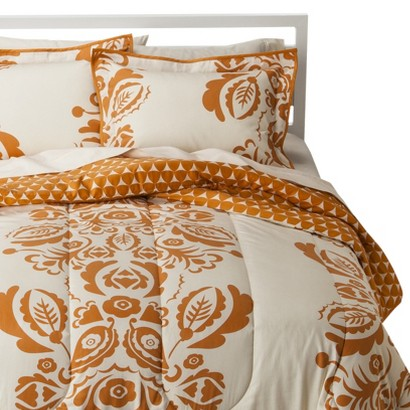 Room 365 Exploded Paisley Comforter Set - Orange (Twin)