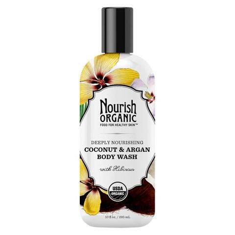Nourish Organic Body Wash - Coconut & Argan (10 oz)