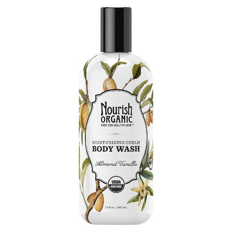 Nourish Organic Body Wash - Almond Vanilla (10 oz)
