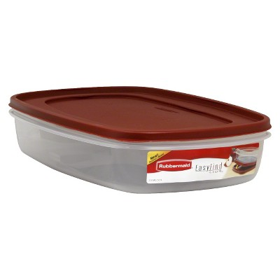 Rubbermaid Easy Find Lids Food Storage Container, 1.5 Gal