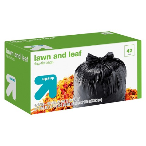 up & up™ Lawn and Leaf Flap-Tie Bags - 39 gal - 42 ct