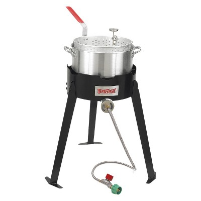 Bayou Classic 10Qt Frying Kit- Burner and Fry Pot