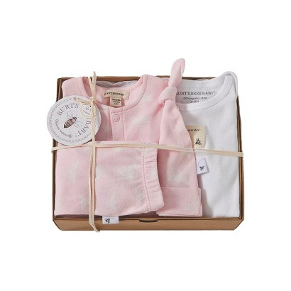 Burts Bees Baby™ Newborn Girls' 4 Piece Gift Box - Blossom