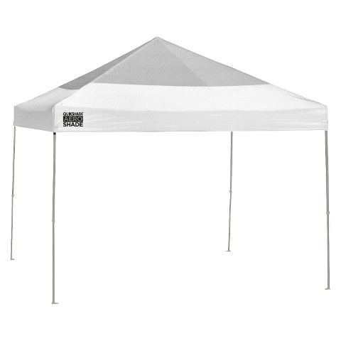 Quik Shade Aero Shade 10x10 Mesh Instant Canopy with Rain Cover - White/Silver