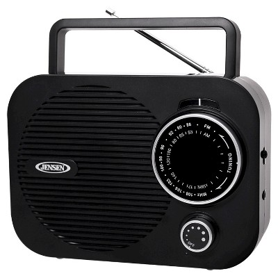 Jensen AM/FM Portable Radio - Black (MR-550-BK)