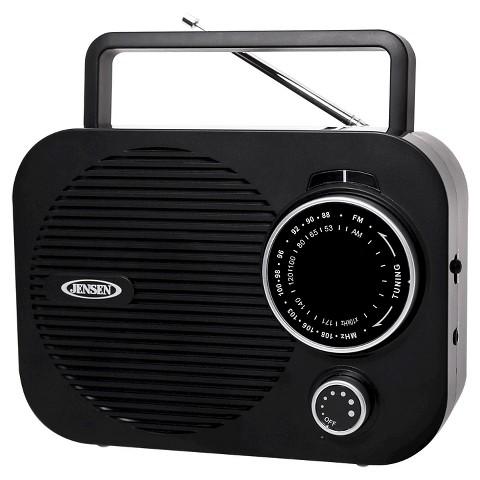 Jensen AM/FM Portable Radio - Black (MR-550-BK)