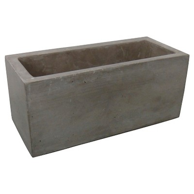 "Threshold™ Rectangle Concrete Planter - (14"")"