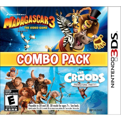 Madagascar 3 & The Croods Prehistoric Party: Combo Pack (Nintendo 3DS)