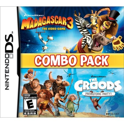 Madagascar 3 & The Croods Prehistoric Party: Combo Pack (Nintendo DS)