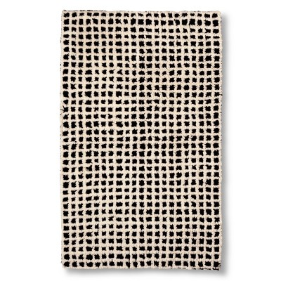 "Grid Bath Rug Blue Midnight (20x32"") - Nate Berkus™"