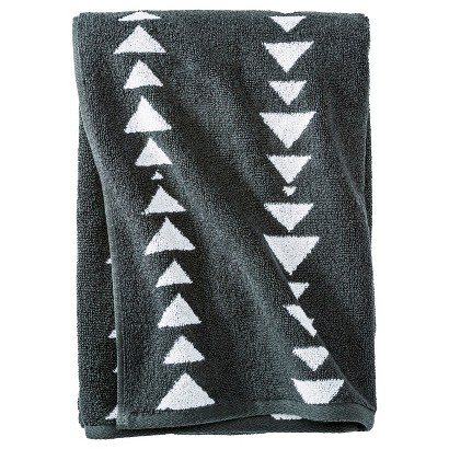 NATE BERKUS™ ARROWHEAD BATH TOWEL - RAILROAD GRAY