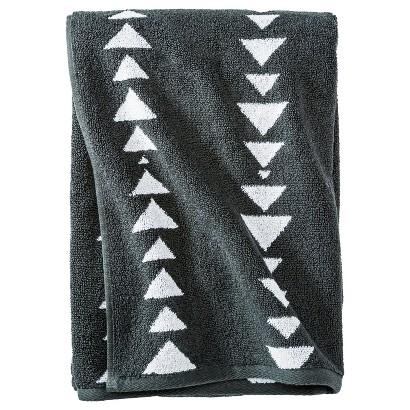 Nate Berkus Arrowhead Bath Towel - Railroad Gray