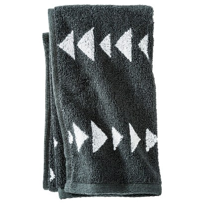 NATE BERKUS™ ARROWHEAD HAND TOWEL - RAILROAD GRAY