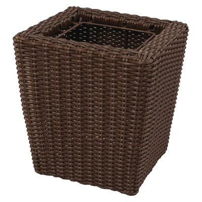 "Threshold™ Wicker Planter - Brown  (21"")"