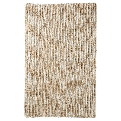 "Striated Bath Rug Heather Neutral (20x32"") - Nate Berkus™"