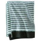 Pinstipe Bath Towels Gray/Aqua - Nate Berkus™