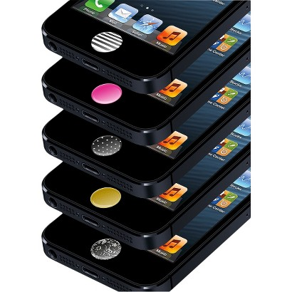 Agent18 Home Button Stickers Cell Phone Charm for iPhone 4/4S - Black (HBS/P1)