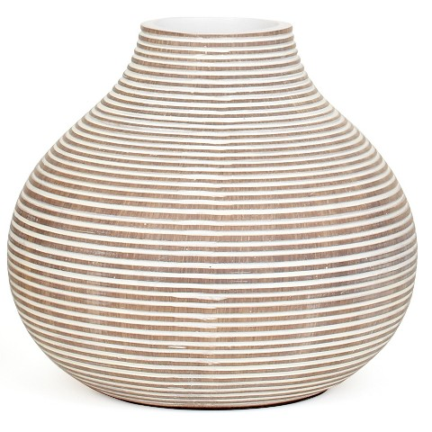 """Torre & Tagus Short Columbo Gourd Vase White - 7.75"""""""