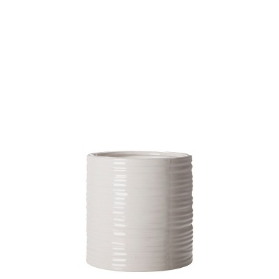 """Small Ripple Cylinder Vase Silver - 6"""" by Torre & Tagus"""