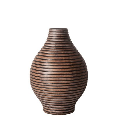 "Columbo Teardrop Short Vase Brown - 7"" by Torre & Tagus"