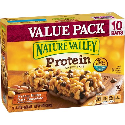 Nature Valley Peanut Butter Dark Chocolate Protein Chewy Bars 10 ct