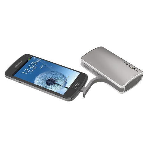 myCharge Portable Power Bank Multi-device Charger Hub 3000 - Silver (RFAM-0503)