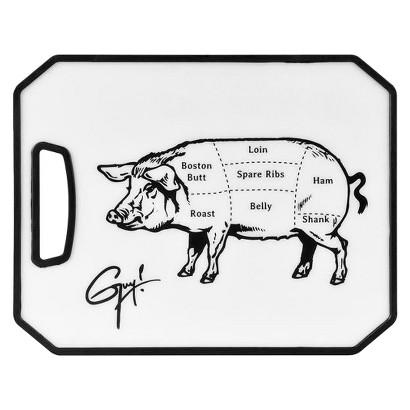 Guy Fieri 8x11 Inch Cutting Board with Pig Tattoo Graphics