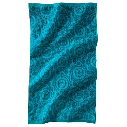 Lux Velour Medallion Beach Towel - Blue
