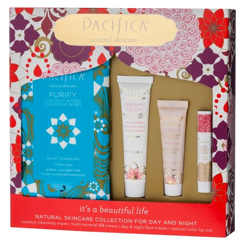 Pacifica Natural Skin Care Collection for Day & Night - 4ct