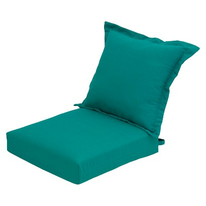 Threshold™ 2-Piece Outdoor Replacement Club Chair Cushion Set - Turquoise