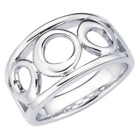 She Sterling Silver Three Open Circle Band Ring