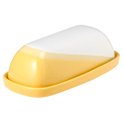 Threshold™ Ceramic Paint Dipped Butter Dish - Yellow