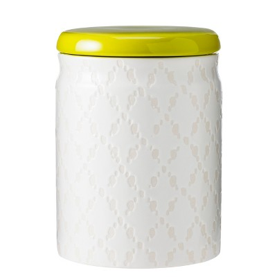 Ceramic Medium Food Canister - White/Green - Threshold™