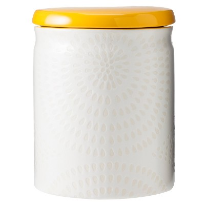 Threshold™ Ceramic Large Food Canister - White/Yellow