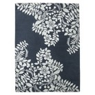 Placed Floral Area Rug - Navy Blue