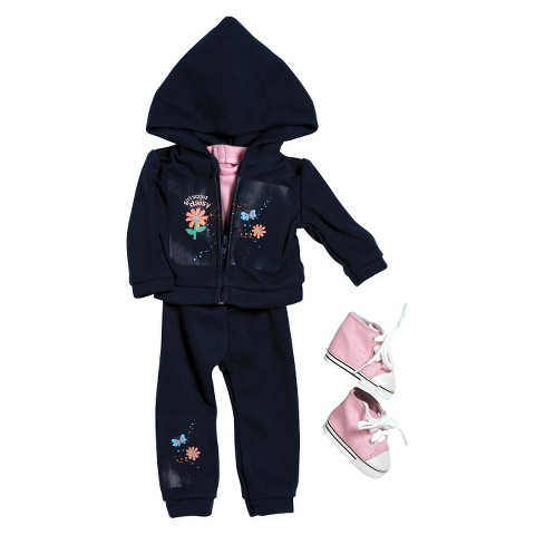"""Adora Doll Clothes - Girl Scout Daisy Hooded Jacket/Pant Set (18"""")"""