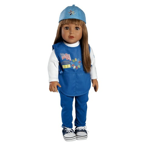 """Adora Play Doll Mia - Girl Scout Daisy 18"""" Doll & Costume"""