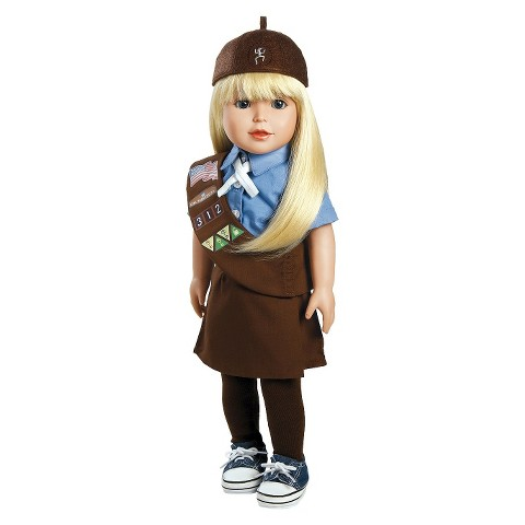 "Adora Play Doll Alyssa - Girl Scout Brownie 18"" Doll & Costume"