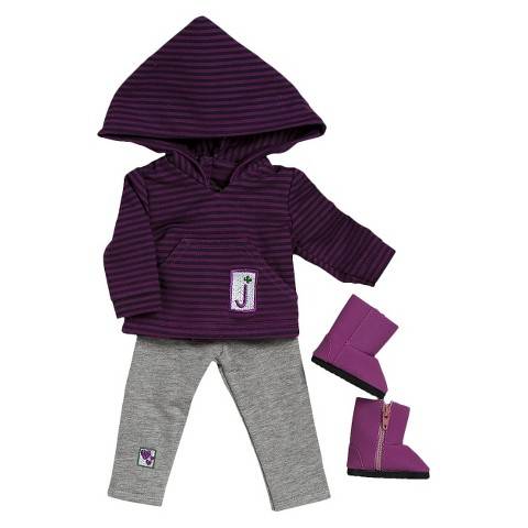 "Adora 18"" Doll Clothes - Girl Scout Jr. Hooded Shirt/Leggings Set"