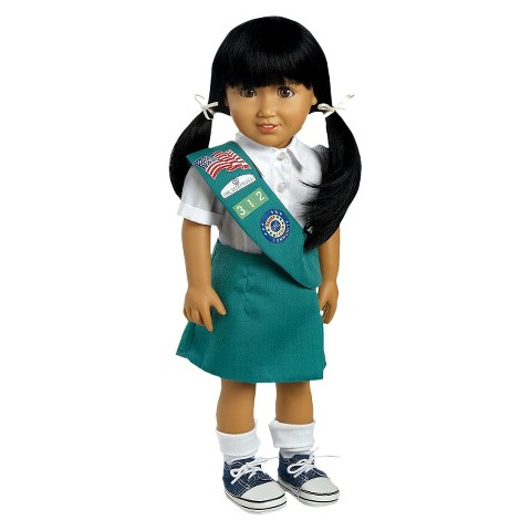 "Adora Play Doll Jasmine - Girl Scout Jr. 18"" Doll & Costume"