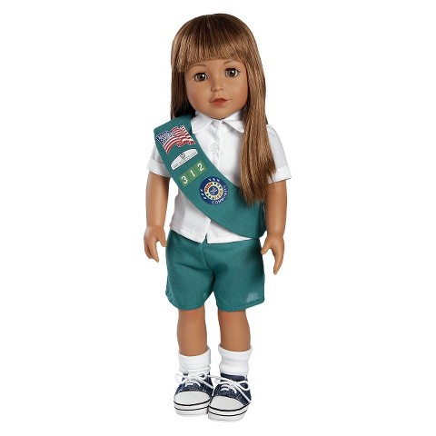 """Adora Play Doll Mia - Girl Scout Jr. 18"""" Doll & Costume"""