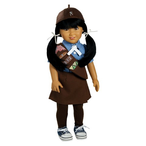 """Adora Play Doll Jasmine - Girl Scout Brownie 18"""" Doll & Costume"""