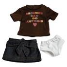 """Adora 18"""" Doll Clothes - Brownie T-Shirt/Skirt Set"""