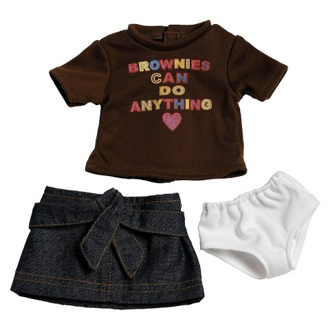 "Adora 18"" Doll Clothes - Brownie T-Shirt/Skirt Set"