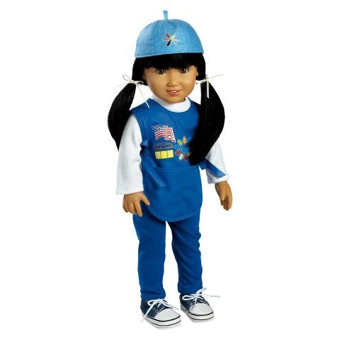 "Adora Play Doll Jasmine - Girl Scout Daisy 18"" Doll & Costume"