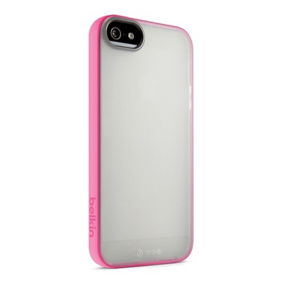 Belkin Grip Cell Phone Case for iPhone 5 - Pink/White (F8W168ttC1)