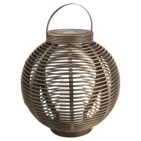 Solar Outdoor String Lights Target : Rattan Round Solar Lantern - Threshold : Target