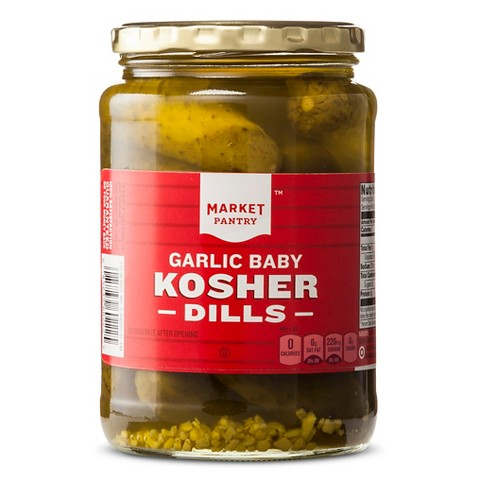 Market Pantry Baby Kosher Dill Pickles 24 oz