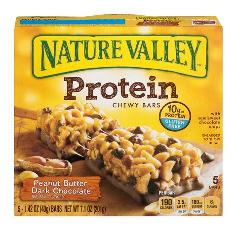 Nature Valley Peanut Butter Dark Chocolate Protein Chewy Bars 5 ct