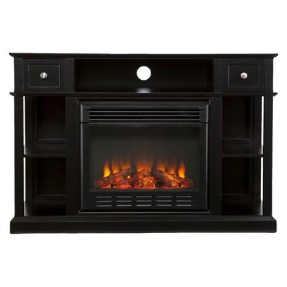 Dawson Electric Media Fireplace Black Target